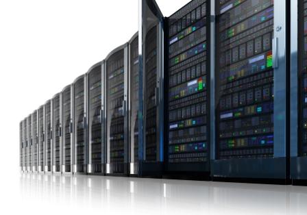 Servermiljö hos ett webbhotell